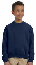 Jerzees Boys Rib Collar Pill Free Long Sleeve Crewneck Fleece Sweatshirt. 562B
