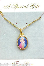 VARIOUS SAINTS Pendant Picture Medal Necklace Gold Plated Religious Gift