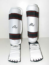 TAEKWONDO gear Shin protector Shin Instep Guard martial arts sparring foot gear