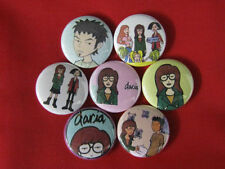 DARIA Comic  CARTOON  TV ALL NEW Set of 7 Select-a-Size of Pinback Buttons