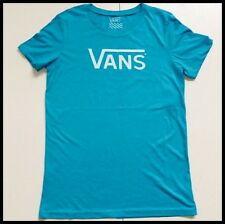 VANS OFF THE WALL 'ALLEGIANCE' CLASSIC LOGO WOMEN'S T-SHIRT -BLUE - ALL SIZES