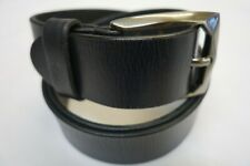 Gents Leather Belt 100% TOP QUALITY Hide Leather Stitched Made in Italy BNWT