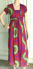Pretty Monsoon Magenta Green Red Tie Back Chiffon Dress Sizes 8 10 12 14 16 18