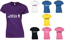 Evolution of Ice Hockey, Sport, NHL inspired Ladies Printed T-Shirt