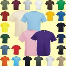Hommes femmes unisexe valueweight t-shirt 26 couleurs s - 5xl Fruit of the Loom