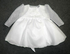 B1018 -white dress &organza bolero wedding formal christening formal