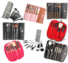 Professional LyDia makeup cosmetic brush set Black/Pink/Brown with case