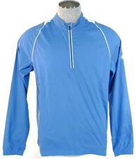Adidas Golf ClimaProof 1/2 Zip Blue Wind Shirt Mens NWT