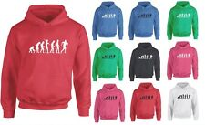 Evolution of Lineout, Rugby Ball Sports inspired Kids Printed Hoodie