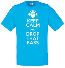 Keep Calm and Drop the Bass, Dubstep Inspired Men's printed T-Shirt