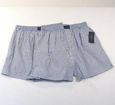 Tommy Hilfiger Striped Classic Fit Cotton Boxer Shorts Underwear 2 Pair Mens NWT