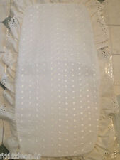 SUN CANOPY,PRAMS & PUSHCHAIRS, WHITE OR CREAM,BRODERIE ANGLAISE, UNIVERSAL CLIP