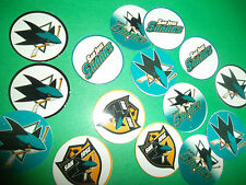 Pre Cut SAN JOSE SHARKS One Inch Bottle Cap Images! FREE SHIPPING