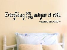 Everything You Can Image - Picasso Quote Wall Art Decal Home Decor Sticker