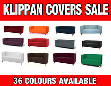 BESPOKE CUSTOM MADE COVER FOR KLIPPAN 2 SEAT AND FOOTSTOOL COVERS NEW COLOURS