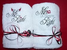 Wedding gift Mr & Mrs Towels set present for anniversary housewarming moving in