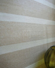 'Basel' stripe/striped/stripey wallpaper in Brown & Taupe Metallic