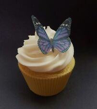 edible purple wafer butterfly cupcake cake toppers 18th 21st 60th DIY or PRE-CUT