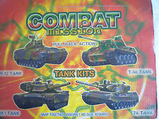 Combat Mission Pull Back Action Model Tank Kit Snap Together - No Glue Required