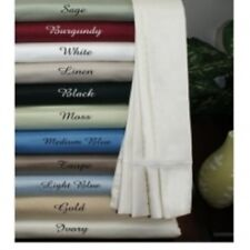 NEW HOTELS QUALITY 4 piece sheet set 1000TC ORGANIC EGYPTIAN COTTON KING SOLID
