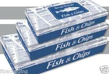 Great British Fish and Chips ( Paper Boxes) Hot Food Takeaway Packaging x 100 ap