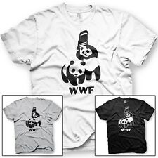 WWF Pandas. World Wrestling Federation. Cage Match. Funny Tshirt - Mult. Colors