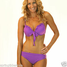 ♥ Purple Grape Zara Bikini with Push Up Padded Bra Top ♥ 8 10 12 14 16 Swimwear