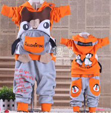Funky Boys Penguin Outfit Suit Tracksuit Sports Party Hoodie Hoody Designer Boy