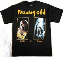 RUNNING WILD DEATH OR GLORY'89 GRAVE DIGGER BLIND GUARDIAN NEW BLACK T-SHIRT