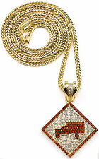 Iced Out New Trukfit Pendant Necklace With 36 Inch Franco Style Chain