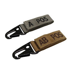 Blood Type Key Chain ID Tag Quick Release Snaphook ALL Blood Types and Colors