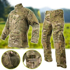 Tactical Combat Uniform Shirt & Pants Multicam Camouflage suit sets L/XL