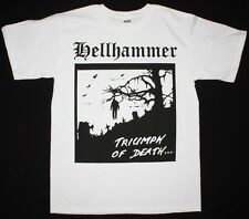 HELLHAMMER TRIUMPH OF DEATH'83 DEMO CELTIC FROST CORONER NEW WHITE T-SHIRT