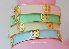 Gold Monogram Cross Cuff Bangle Bracelet see colors