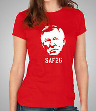 SAF26 Ladies Fitted T-Shirt 100% Unofficial Alex Ferguson Skinny Fit Tee (D473)