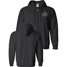 CHICAGO POLICE MEMORIAL Full Zip Sweat Shirt with Embroidered Star