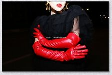40/50/60cm Women's Red (100% Real Sheepskin Leather) Long Opera / Party Gloves