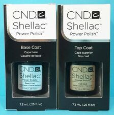 CND SHELLAC GEL POLISH BASE COAT or TOP COAT .25 oz each with or without box NEW