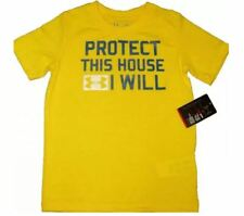 Under Armour T Shirt Sports Top Tee Athletic Boys UA Infant Protect this House