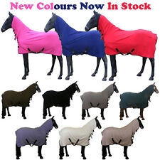 HORSE COB PONY FULL COOLER STABLE SHOW FULL NECK TRAVEL COMBO FLEECE RUG 4 6-7 0