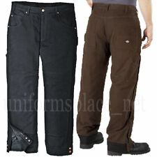 Dickies Work pants Sanded Duck Insulated Carpenter Pockets TP2477 Lined Pant
