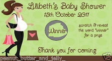 Personalised Baby Shower Scratch Off Tickets (Game) - 10 Pack
