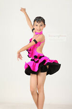 Childrens Latin Salsa Ballroom Dance Dress Girls Dancewear FY083