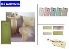 Old Colour Bathroom Suite, With Bath,Panel,Toilet,Basin & Ped, Various Colours