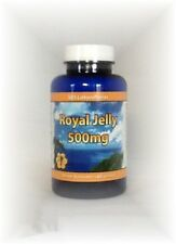Pure Royal Jelly Supplements 500 mg Pills- Energy Fertility Stamina AntiAging