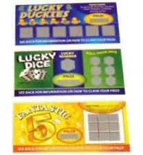 1 3 6 12 24 48 Fake Lotto Scratch Cards Party Joke Prank Winning Lottery Ticket