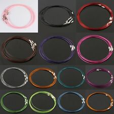 Wire Cable Steel Thread Beading Cord Rope Chain Choker Necklace Jewelry Findings