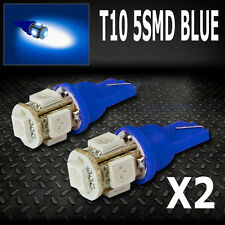 Blue LED Parker License Number Plate Lights Bulbs T10 W5W Camry Falcon Commoore