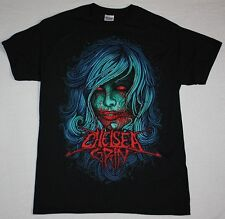 CHELSEA GRIN GIRL FACE DEATHCORE METALCORE SUICIDE SILENCE NEW BLACK T-SHIRT