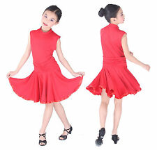 SFG20RD New Children Kid Girl Ballroom Smooth Latin Rhythm Dance Dress Costume